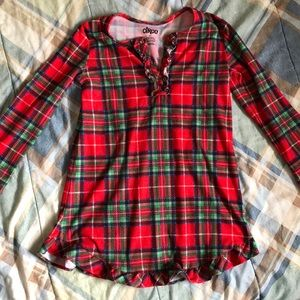 Red & Green plaid nightgown girls small